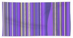 Bath Towel featuring the digital art Lavender Random Stripe Abstract by Val Arie