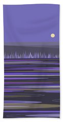 Lavender Reflections Bath Towel by Val Arie