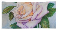 Lavender Rose Hand Towel by Marna Edwards Flavell