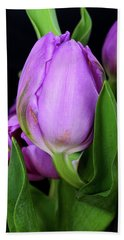 Lavender Tulips Hand Towel