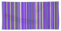 Lavender Twilight - Stripe Abstract Hand Towel