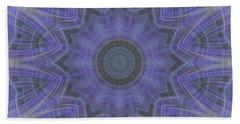 Lavender Twirl Kaleido Bath Towel