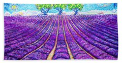 Lavender Bath Towel by Viktor Lazarev