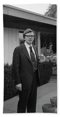 Lawyer With Can Of Tab, 1971 Bath Towel