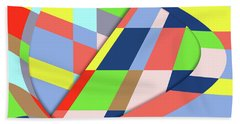 Bath Towel featuring the digital art Layers 1 by Bruce Stanfield