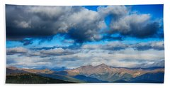 Layers Of Clouds On Mount Evans Hand Towel