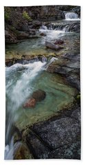 Layers Of Waterfalls Bath Towel
