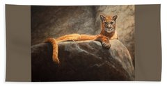Laying Cougar Hand Towel