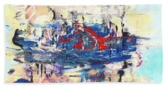 Laziness - Large Bright Pastel Abstract Art Bath Towel