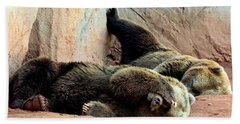 Hand Towel featuring the photograph Lazy Bears by Sheila Brown