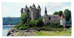 Le Chateau De Val - France Bath Towel by Joseph Hendrix