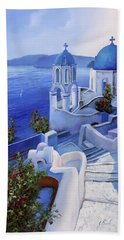 Le Chiese Blu Hand Towel