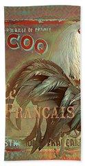 Le Coq - Cafe Francais Hand Towel by Jeff Burgess