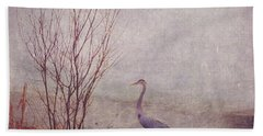 Bath Towel featuring the photograph Le Retour De Mon Heron by Aimelle