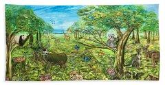 Le Royaume Animal De Yang Bath Towel by Belinda Low