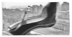 Flying Stiletto Bath Towel by Don Pedro De Gracia