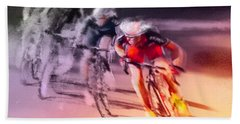 Le Tour De France 13 Bath Towel by Miki De Goodaboom