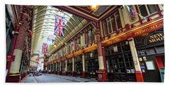Bath Towel featuring the photograph Leadenhall Market by Shirley Mitchell