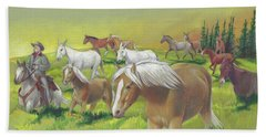 Leading The Bell Mare Bath Towel