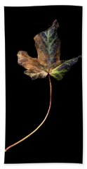 Leaf 1 Bath Towel by David J Bookbinder