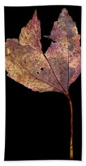 Leaf 11 Bath Towel by David J Bookbinder