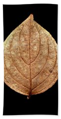 Leaf 12 Bath Towel by David J Bookbinder