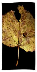 Leaf 13 Bath Towel by David J Bookbinder