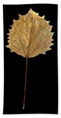 Leaf 14 Bath Towel by David J Bookbinder