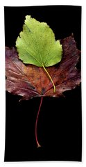 Leaf 15 Bath Towel by David J Bookbinder