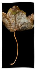 Leaf 3 Bath Towel by David J Bookbinder