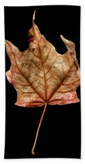 Leaf 4 Bath Towel by David J Bookbinder