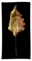 Leaf 6 Bath Towel by David J Bookbinder