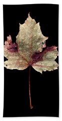 Leaf 7 Bath Towel by David J Bookbinder