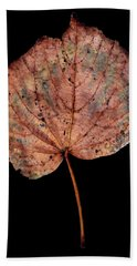 Leaf 8 Bath Towel by David J Bookbinder