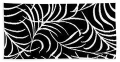 Leaf Abundance Pattern Bath Towel by Saundra Myles