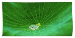 Leaf Cupping A Giant Water Drop Hand Towel