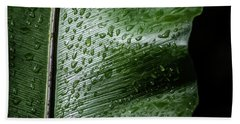 Leaf Droplets II Hand Towel