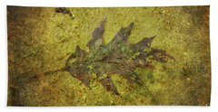 Hand Towel featuring the digital art Leaf In Mud Two by Randy Steele