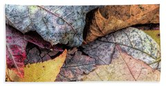 Leaf Pile Up Bath Towel by Todd Breitling