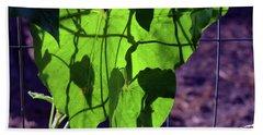 Leaf Shadows Bath Towel