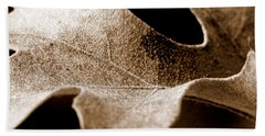 Leaf Study In Sepia Bath Towel