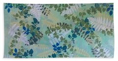 Leafy Floor Cloth - Sold Bath Towel by Judith Espinoza
