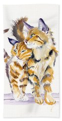 Lean On Me Hand Towel by Debra Hall