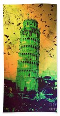 Leaning Tower Of Pisa 32 Bath Towel