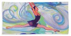 Leap Of Joy Bath Towel by Jeanette Jarmon