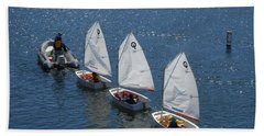 Learning To Sail Bath Towel