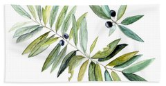 Leaves And Berries Bath Towel