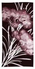 Bath Towel featuring the photograph Leaves And Petals I by Leda Robertson