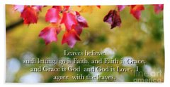 Leaves Believe Hand Towel