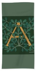 Leaves Letter A Hand Towel